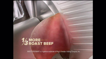 Arby's King's Hawaiian Roast Beef Sandwich TV Spot, 'It's Ono' - Thumbnail 6