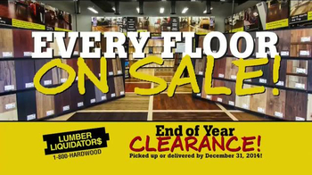 Lumber Liquidators End of Year Clearance Sale TV Spot, 'All Must Go!'