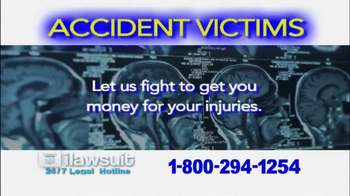 iLawsuit Legal Hotline TV Spot, \'Accident Victims\'