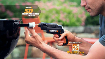 Worx SD Semi-Automatic Driver TV Spot, 'Right Tool'