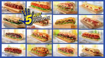Subway SUBtember TV Spot, 'Celebrate' - Thumbnail 8