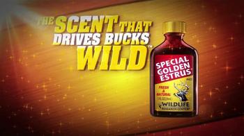 Wildlife Research Center Special Golden Estrus TV Spot, 'Drives Bucks Wild'