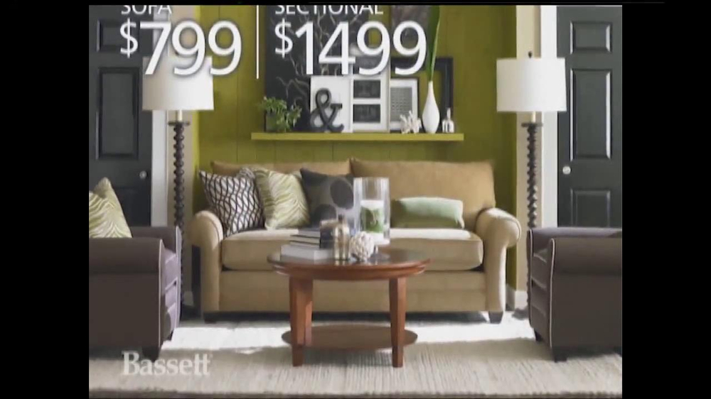 Bassett labor day sale tv spot for Labor day weekend furniture sales