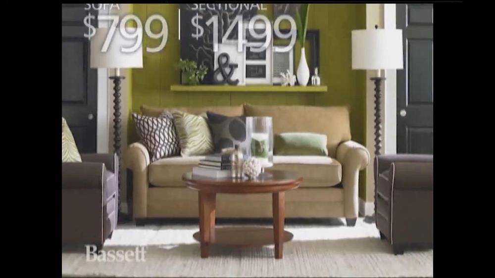 bassett labor day sale tv spot. Black Bedroom Furniture Sets. Home Design Ideas
