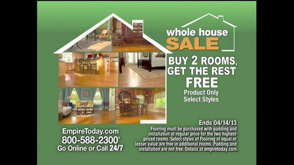 Empire Today Whole House Sale TV Commercial, 'No Interest For One ...