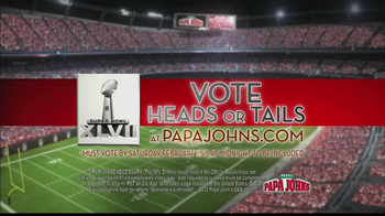 Papa John's TV Spot, 'Heads or Tails' Featuring Peyton Manning - Thumbnail 4