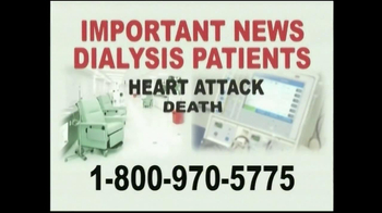 Davis & Crump, P.C. TV Spot, 'Important News: Dialysis Patients'