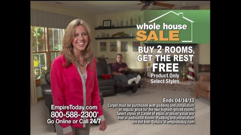 Empire Today Whole House Sale TV Commercial, 'Feb. 2013' - iSpot.tv
