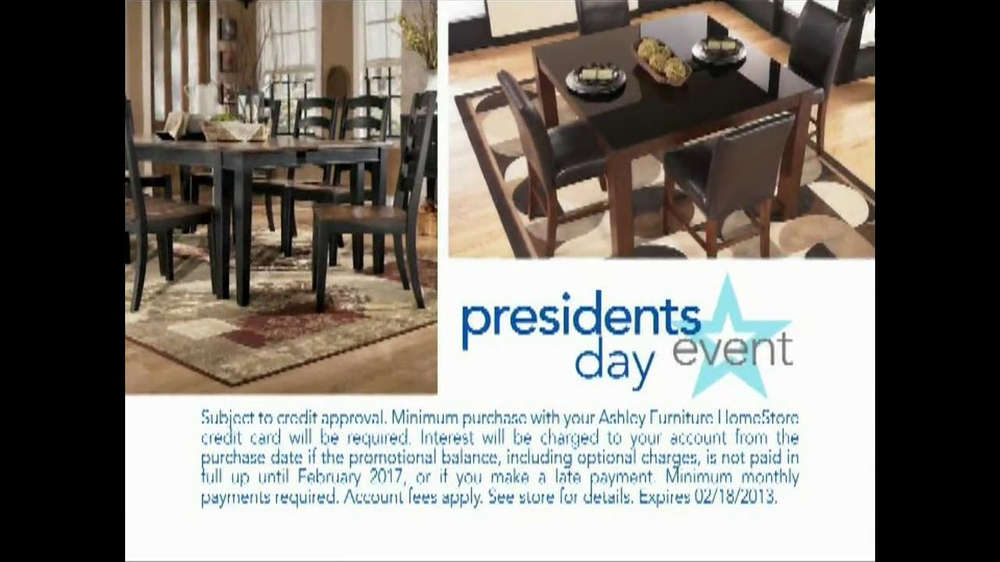 ashley furniture homestore presidents 39 s day event tv commercial 39 fina
