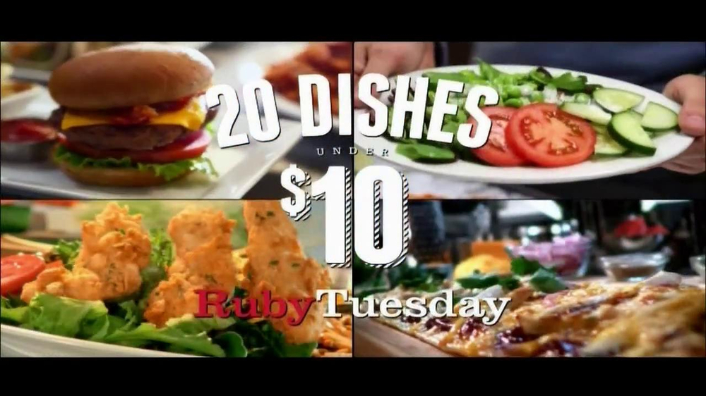 Ruby tuesday tv commercial 39 20 under 10 39 - Ruby tuesday garden bar and grill ...
