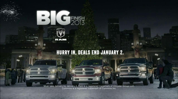 Ram Big Finish Events TV Spot, 'Towing Christmas Tree'