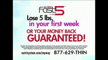 Nutrisystem My Way TV Spot, 'Fast 5 Free' Ft Marie Osmond