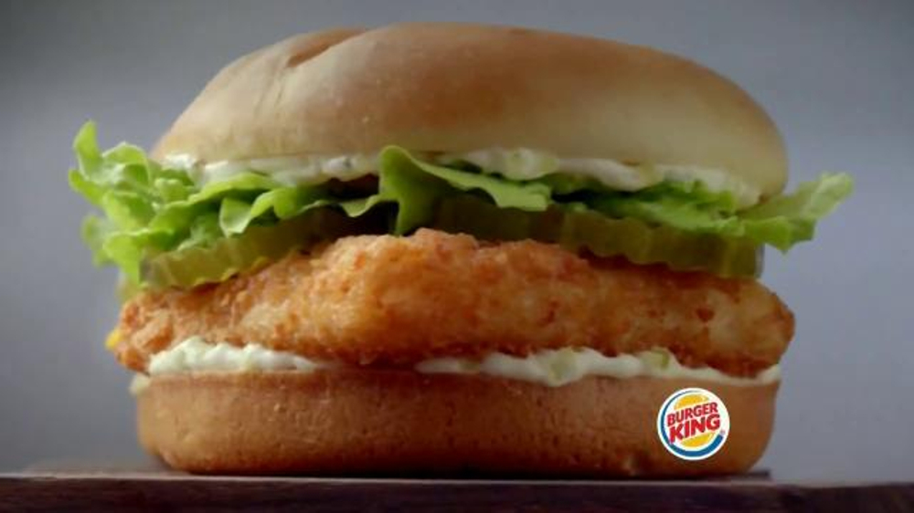 Burger king big fish tv commercial 39 2 for 5 fishing for Does wendy s have a fish sandwich