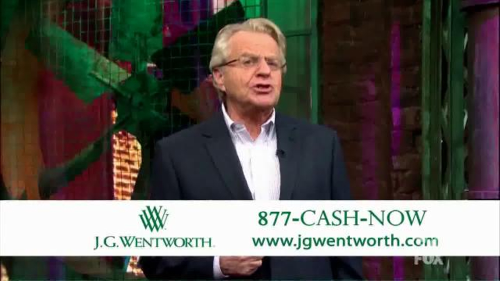 J.G. Wentworth TV Commercial, 'Jerry Springer' - iSpot.tv