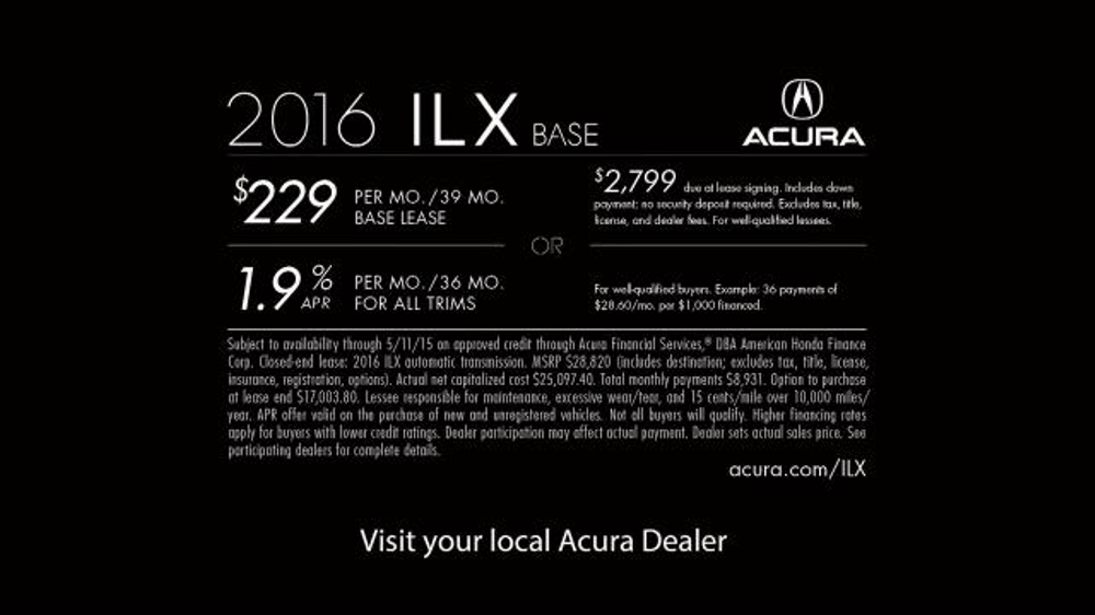 2016 Acura ILX TV Commercial, 'Tag, You're It' - iSpot.tv