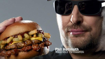 Carl's Jr. Texas BBQ Thickburger TV Spot, 'Double Down' ft. Phil Hellmuth - Thumbnail 1