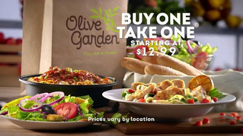 Olive Garden Tv Commercial Buy One Take One For Later Ispot Tv