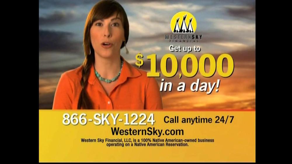 Western Sky Loans >> Western Sky Financial TV Commercial, '$10,000 in a Day' - iSpot.tv
