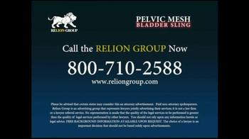 Relion Group TV Spot For Pelvic Mesh