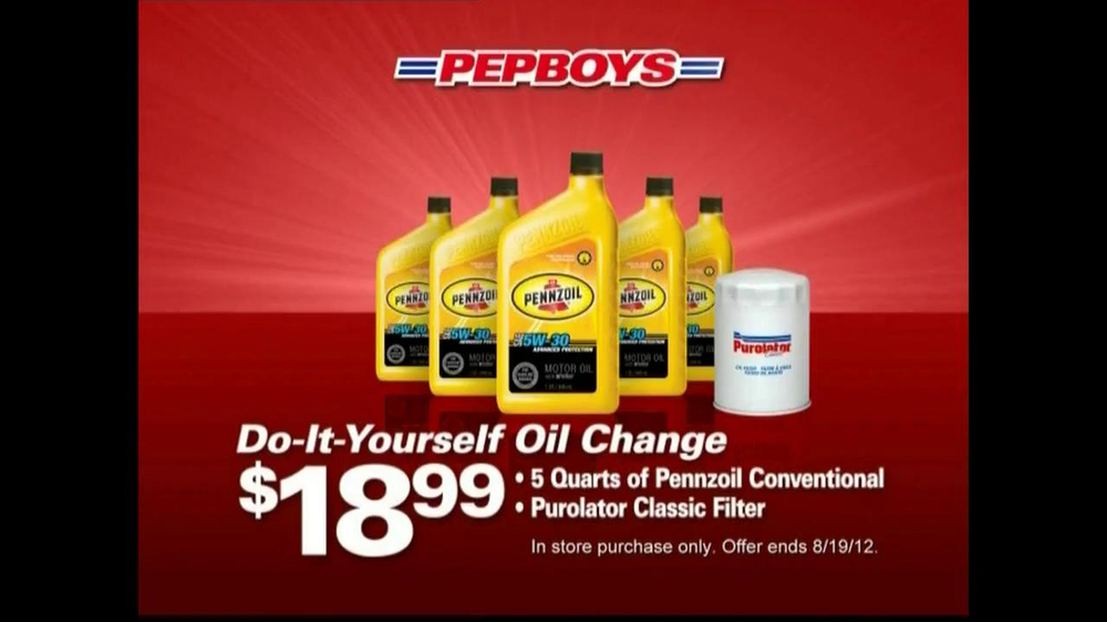 PepBoys TV Commercial For Oil Change And Tire Deals - iSpot.tv