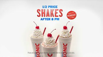 Sonic Drive-In TV Spot, 'Half-Price Shakes After 8 PM' - Thumbnail 8
