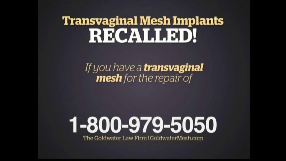 Pulaski Law Firm >> Goldwater Law Firm TV Commercial For Transvaginal Mesh Recalled - iSpot.tv