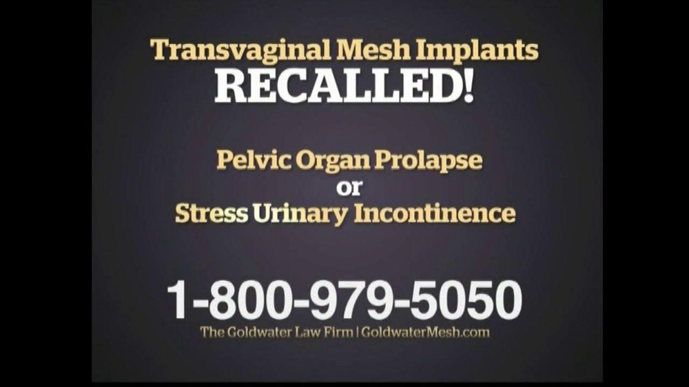 Pulaski Law Firm >> Goldwater Law Firm TV Commercial For Transvaginal Mesh ...