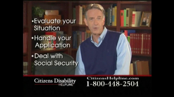 Citizens Disability Helpline TV Spot For Disability