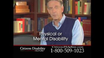 Citizens Disability Helpline TV Spot For Receive Benefits - Thumbnail 4