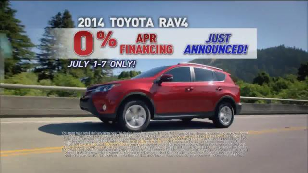 2014 Toyota Rav4 TV Commercial, '4th of July Sales Event ...