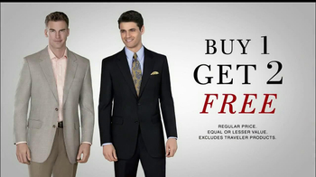 JoS. A. Bank TV Spot, 'Buy 1, Get 2 Free: Suits & Sportscoats'