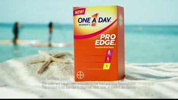One A Day Women's Pro Edge TV Spot, 'Beach' - Thumbnail 4