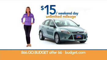 Budget Rent a Car  TV Spot, '$15 Weekend Day'