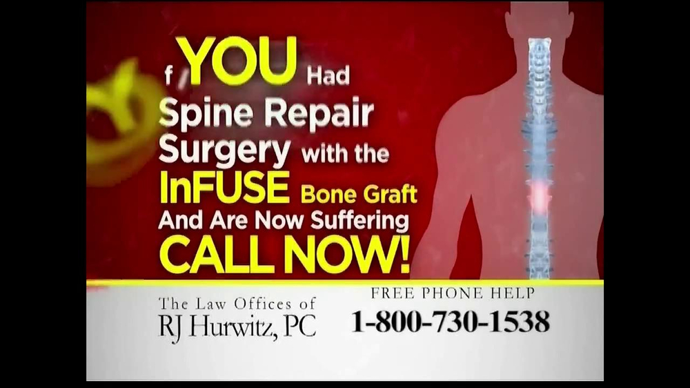 Pulaski Law Firm >> The Law Offices of RJ Hurwitz TV Commercial, 'Spinal Fusion Lawsuit' - iSpot.tv
