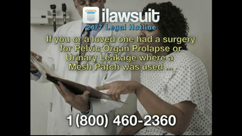 iLawsuit Legal Hotline TV Spot, \'Surgical Mesh Award in New Jersey\'