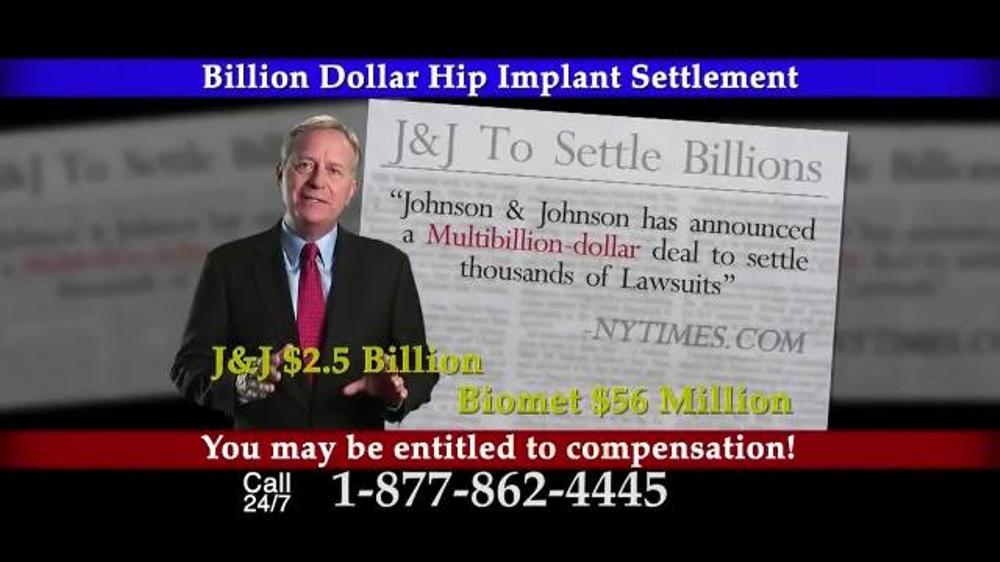 Pulaski Law Firm >> Lee Murphy Law TV Commercial, 'Billion Dollar Hip Implant Settlement' - iSpot.tv