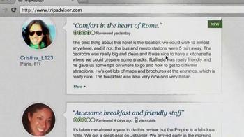 Trip Advisor TV Spot, 'Don't Just Visit Rome' - Thumbnail 9