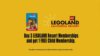 1-Day Free Child Hopper Ticket with full-price Adult Hopper Ticket purchase. Like Legoland coupons? Try these SeaWorld, Up to 25% off Tickets. Expires 12/31/ Get Deal. Getting great deals on admission at Legoland is easy when you have one of these 4 coupons. Their December offers will score you big savings, but be sure to browse.