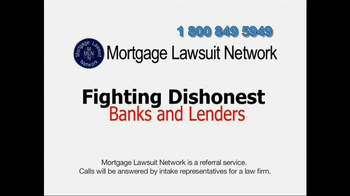 Mortgage Lawsuit Network TV Spot - Thumbnail 3