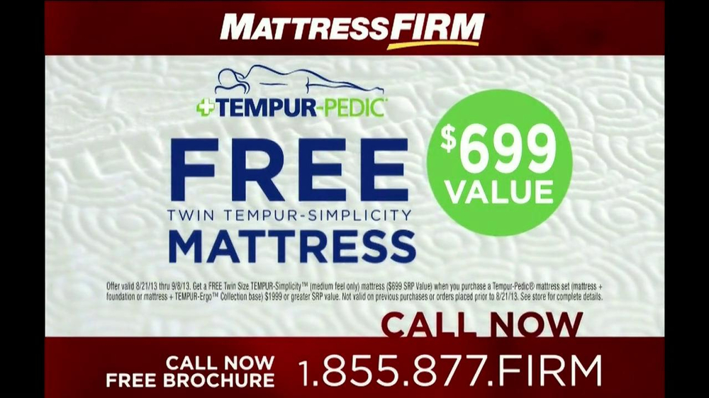 Mattress Firm Tempur Pedic Tv Spot Ispot Tv