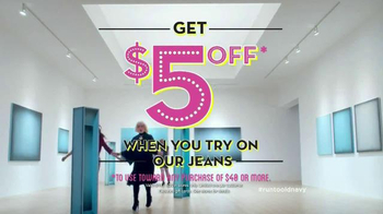 Old Navy Jeans TV Spot, 'Art is Dead. Jeans are Alive.' Feat. Amy Poehler - Thumbnail 10