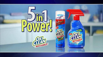 OxiClean MaxForce TV Spot, '5 in 1 Power' - 12632 commercial airings
