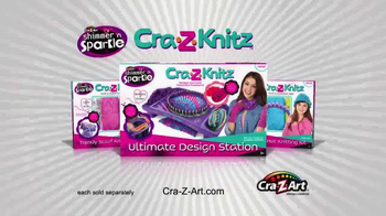 Cra-Z-Knitz TV Spot, 'Knitting Easy and Fun with Two Looms in One