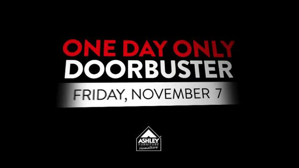 Ashley Furniture Homestore One Day Only Doorbuster Tv Spot