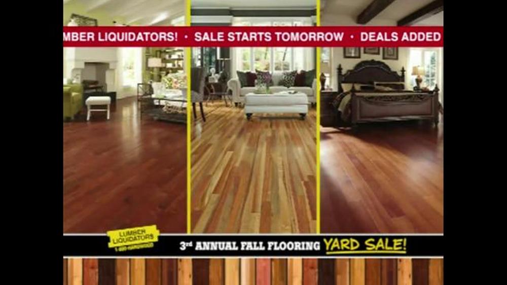 Lumber Liquidators 3rd Annual Fall Flooring Yard Sale Tv