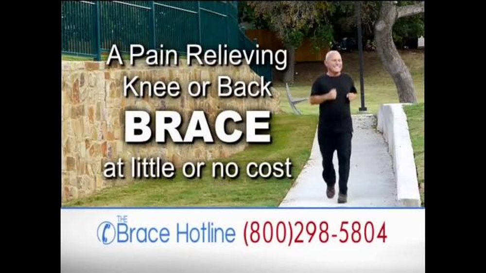 The Brace Hotline Tv Commercial Severe Back And Knee