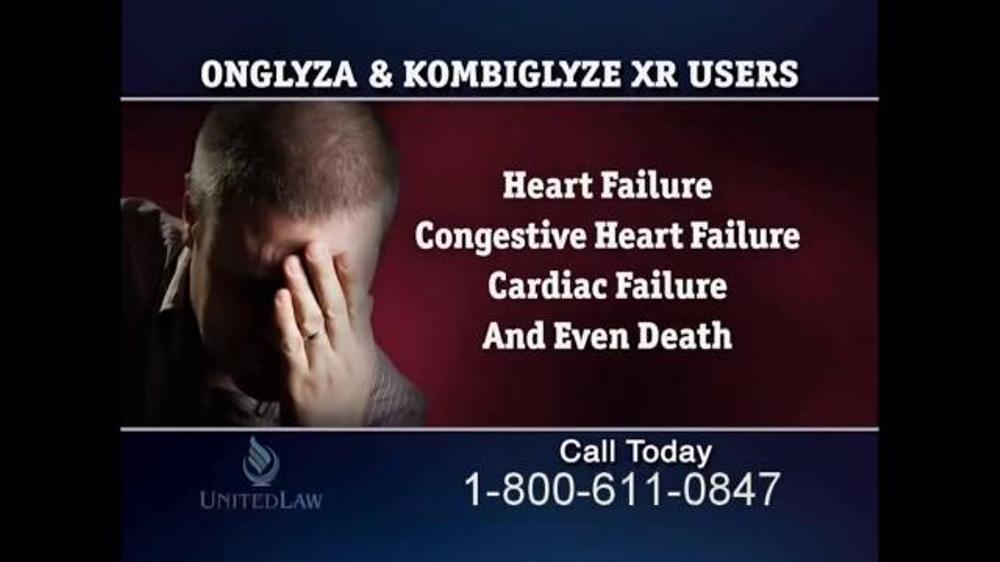 United Law TV Commercial, 'Onglyza & Kombiglyze XR' - iSpot.tv