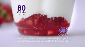 Dannon Light & Fit Greek Yogurt TV Spot, 'No Ordinary Low-fat Yogurt'  - Thumbnail 3