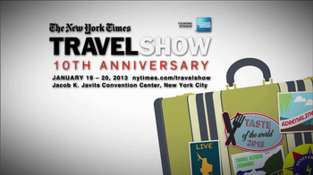 The New York Times Travel Show 10th Anniversary TV Spot