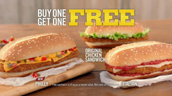 Burger King Original Chicken Sandwich TV Spot, 'Buy 1, Get 1'